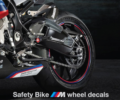 BMW HP4 motorcycle quality wheel decals stickers rim stripes s1000RR Laminated