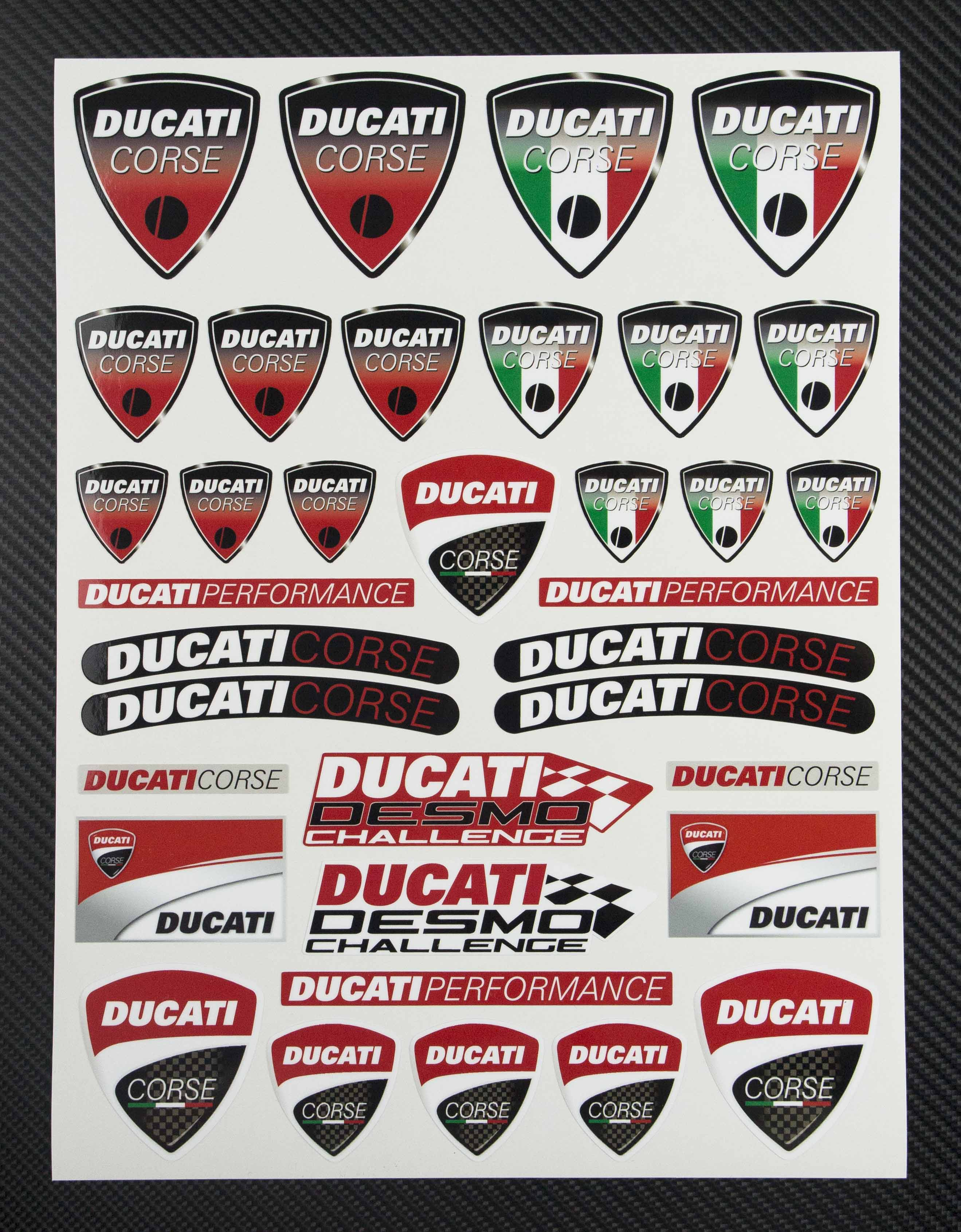 elit templates sticker - ducati corse sticker set satu sticker